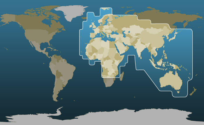 Thuraya's Coverage Map